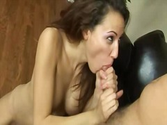 handjob, boobs, brunette, big, tits, big boobs, oral