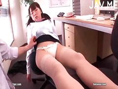 Boy pounding sleeping cootchie in office