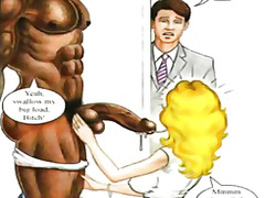 funny, dick, personal, cartoon, animation, black, bigdick, big, john, interracial