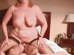 Golden-haired cougar aged wifey with latest rod