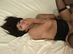 Molten asian yuki mori screws with her mother lover's son and deepthroats his fuck-stick