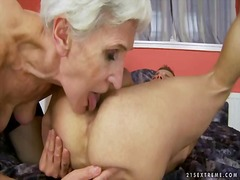 Steaming granny loves hookup with youthful fellow