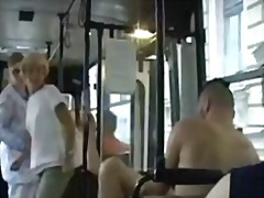 Public indecency on the bus this wild couple doesnt give a shit (fledgling mature mom mother mummy granny o...