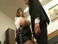 Ample hooters japanese gets rubbed