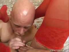 Celeste a blonde shemale bonks the person inwards his pooper