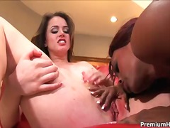 Interracial lesbo act with fantastic women named jada fire and tori ebony
