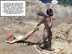 big boobs, cock, hairy, male, huge, comics, big cock, gay, story, barebacking, cartoon, hunk, 3d