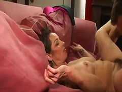 Mature and expert female with accurate fur covered fuckbox dominatrix elisa takes a man rod