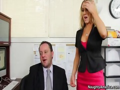 Amber ashlee takes jizz-shotgun in the office to save her job