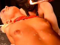 Dominatrix lady plays with dame and fellow bsdm joy