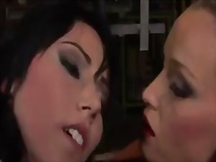 Blonde kathia nobili and lory spread each others raw crevice with enthusiasm