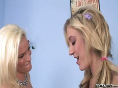 Amy brooke and her lezzie tramp are getting indeed turned up by xxx cootchie frigging