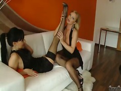 Stacy dasilva gives silvia saints enjoy ass-pipe a eat