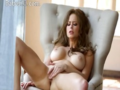 Tastey brunette have super hot solo act