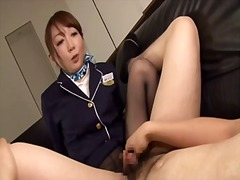Japanese flight attendant rope on group act