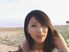 handjob, outdoors, japanese, beach, pov, asian