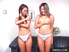 Asian ladies model their brassieres and lingerie