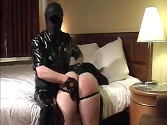 Men in latex love smacking