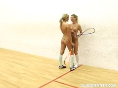 Horny teenage lesbians play squeeze