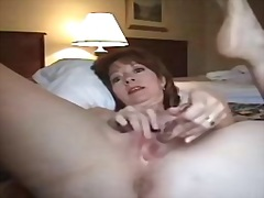 Mature business damsel draining in hotel