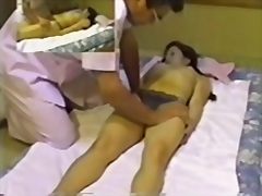 Adorable jap damsel frigged stiff in spy cam rubdown movie