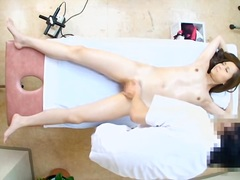 Exceptional jap honey banged doggystyle during erotic rubdown