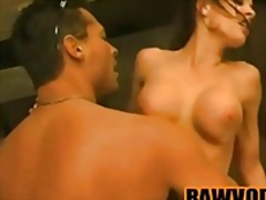 gym, big, brunette, glamour, couple, muscular, tits, kissing