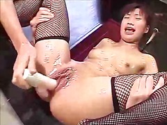 cunt, masturbation, pussy, vibrator, toys, sexual, stimulate, asian, japanese, rubbing, stockings