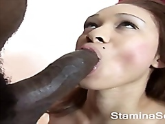 Youthfull black smashed by a giant monster