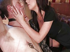 Nip torture and strapon screwing inside female domination pegging vid around penny flame