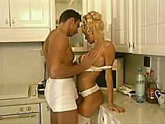 Nasty maid babe fucking with her...
