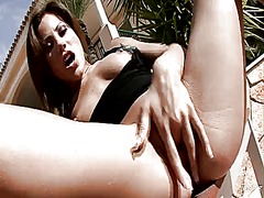 Anita bean spends her sexual energy alone using sex toy