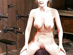 Phoenix marie has her gash frigged while being in fetters
