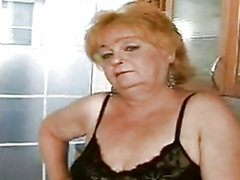Grandma eva is one messy old whore when it comes to hard young cock