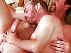 Mature gay fellows give each other head