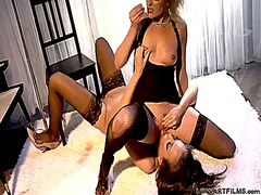 Samantha ryan and nika noir have a lot of joy in this girl-on-girl action