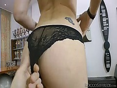 Tess a gives giving oral elation to horny dude rocco siffredi