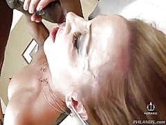 Prince yahshua makes his rock stiff worm disappear in ultra sexy inari vachss mouth