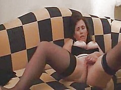 Timid girlfriend plays with herself for her lad