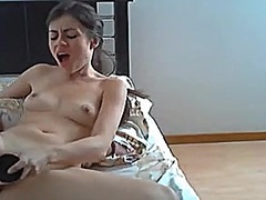 Cootchie pounded by dildo into submission by girl