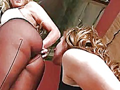 Lezzie slave smothered by big ass
