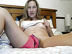 Wife teases her pussy and tits
