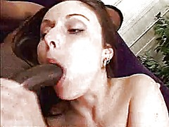 Double penetration and creamie pie with black cock